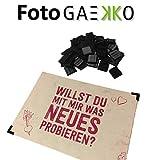 FotoGAEKKO Aufhänger für Fotos & Postkarten: 32 Schwarze Selbstklebende Fotoecken - Fotoaufhänger - Alternative zum Bilderrahmen Klammern Clips Seilen Gitter & Rahmen