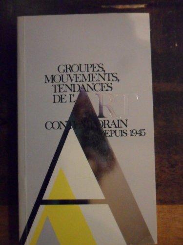 Groupes mouvements tendances de l'Art contemporain depuis 1945