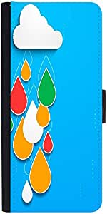 Snoogg Bstract Rainy Season Background With Cloud And Colorful Water Dropsdes...