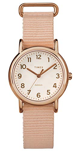 Timex Damen Analog Quarz Uhr mit Nylon Armband TW2R59900 - Watch 16mm Timex Band