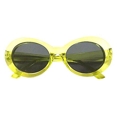 Sonnenbrille,SUCES Retro Vintage Clut Goggles Unisex Rapper Oval Shades Grunge Brille Polarisierte Sportbrille Fahrradbrille Schutz für Autofahren Laufen Radfahren Angeln Golf (E)