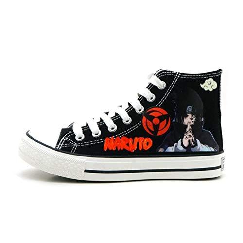 Naruto Cosplay Schuhe (Cosstars Naruto Unisex Hallo-Spitze Turnschuhe Schnüren Segeltuch Schuhe)
