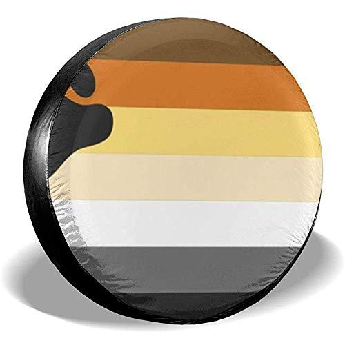 LAURE Tire Cover Accessori per Auto d'Epoca di Ricambio per copricerchi Bandiera Gay Pride Flag Wh