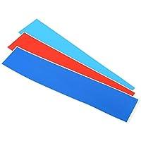 WINOMO Aufkleber für Kühlergrill-Sticker Streifen für Auto 3Farben BMW (dunkelblau, rot, Azzuro)
