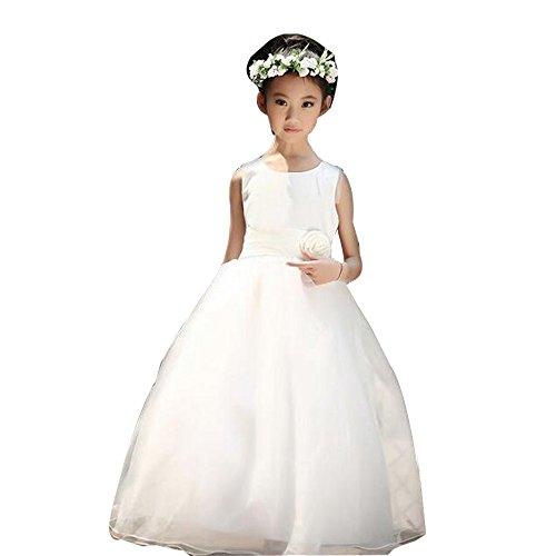 Gonna da Sposa Ragazza Ragazza Ricamo Senza Maniche Concorso di Bellezza Principessa Abiti da Ballo 1 8 Anni