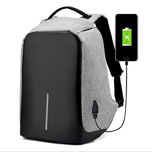 Sacs à Dos pour Ordinateur Portable, Sac à dos pour Homme, Sac à Dos D'affaires, Anti-vol Résistant à l'eauavec port de chargement USB externe Tablett...