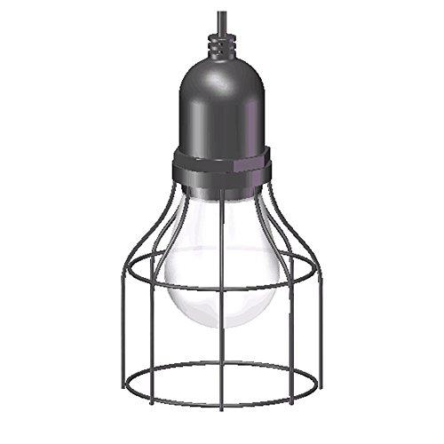 Yool lampadario a sospensione, lampadario da giardino a sospensione per esterni in ferro battuto a led per esterni,b
