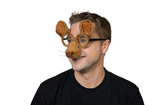 Karneval Klamotten Kostüm Brille Maus Zubehör Tier (Kostüme Jerry Maus)