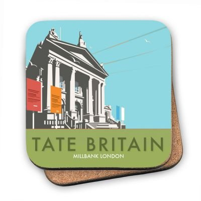 art247-cork-backed-coaster-with-design-of-tate-britain-with-blue-background-by-illustrator-dave-thom