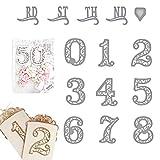 Stanzschablone mit Spitze, Zahlen aus Metall, für Scrapbooking, Prägung, Album, Papier, Foto, Karten, Basteln