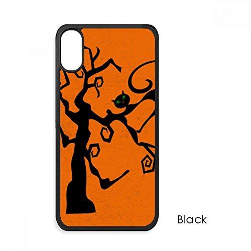 Cat Tree Halloween Rollenspiele Orange für iPhone X Fällen Phonecase Apple Schutzhülle Geschenk