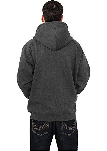 Urban Classic–Felpa con cappuccio e zip, multicolore Charcoal