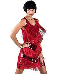 keland 1920s Charleston Kleid Damen Flapper Kleid 20er Jahre Retro Stil Great Gatsby Cocktail Party Fasching Kostüm Kleid