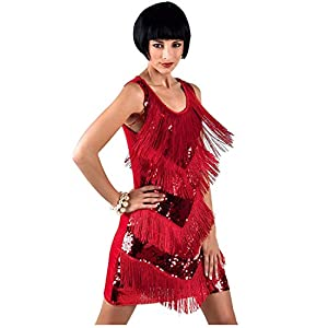 keland 1920s Charleston Kleid Damen Flapper Kleid 20er Jahre Retro Stil Great Gatsby Cocktail Party Fasching Kostüm Kleid