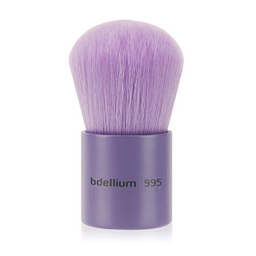 Bdellium Tools Professional Eco-Friendly Makeup Brush Purple Bambu Series with vegan synthetic bristles - Kabuki 995
