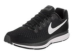 Nike Mens Air Zoom Pegasus 34 White Black Running Shoes(880555-001) (UK-9 (US-10))