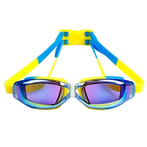 WINOMO Wasserdichte Kinder Schwimmbrille Kein Leck Klar Schwimmbrille UV-Schutz Anti-Fog-Objektiv Weiche Silikonband (Blau)
