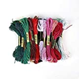 24/36 Colors High Quty Professional Sewing Anchor Similar DMC Stitch Cotton Embroidery Thread Floss Sewing Skeins Craft