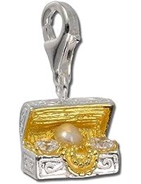 Sueño de plata{925} de ley Charm trep colgante para pulsera cadena pendientes FC227WZ
