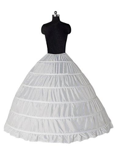 Preisvergleich Produktbild ZJchao Ballkleid ein Tier bodenlangen Hochzeitskleid Petticoats, weiße Farbe