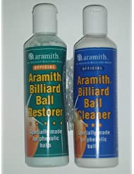 ARAMITH POOL, SNOOKER QUEUE DE BILLARD BOULES RESTAURATEUR NETTOYANT **