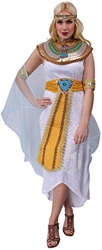 Cleopatra-Kostüm für Damen, Größe 40 / 42 | Erwachsenen-Faschingskostüm Cleopatra-Kleid, mehrfarbig | Pharaonin-Kostüm im Kleopatra look | Ägypterin-Kostüm für Motto-Party oder Karneval (Kostüme Kleopatra Caesar Und)