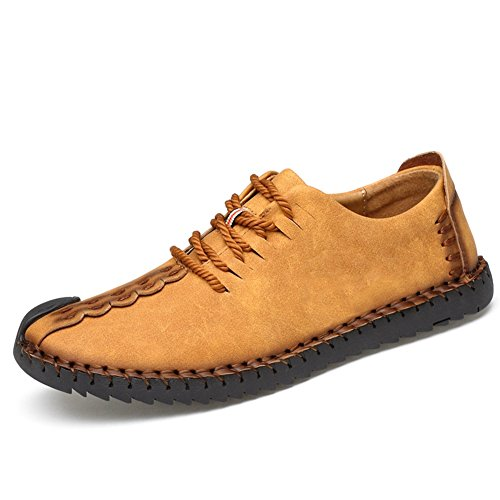 Uomo pelle scarpe stringate basse oxford uomo scarpe stringate basse mocassini uomo per affari scarpa casual giallo eu46