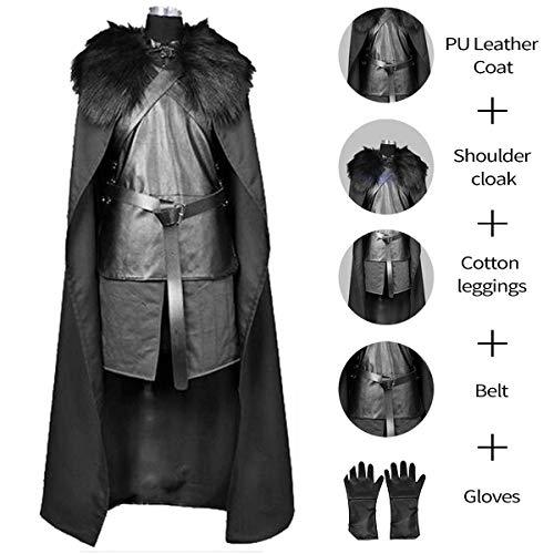 Homelex Game of Thrones Jon Schnee Cosplay Mens Night Watch Kostüm Outfit Anzug ()