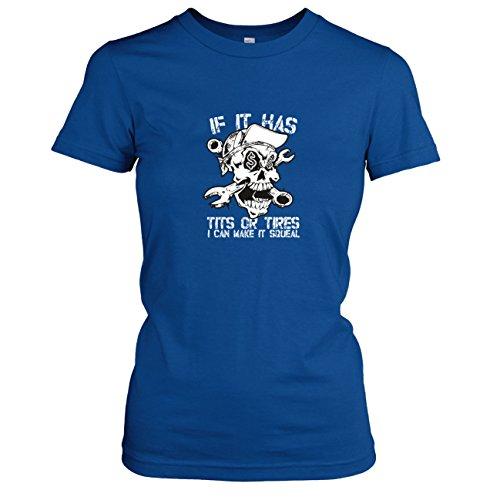 TEXLAB - Make it Squeal - Damen T-Shirt, Größe XL, (Kostüm Marine States United)