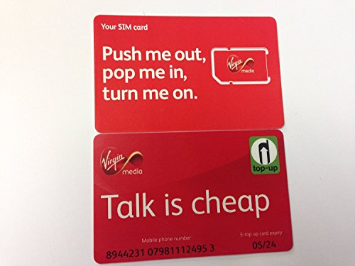 Iphone Mobile Von Virgin 5s (Virgin Triple Sim–superschnelle 3G/4G–Multi SIM Standard/Micro/Nano Sim Karte–für iPhone 4/4S/5/5C/5S/6/6S/6+ iPad 2/3/4/5Samsung Galaxy S2/S3/S4/S5/S6/s6edge–unbegrenzte Anrufe, Texte und Daten–> Mobiles leitet Communications LTD)