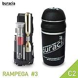 buracia, Kit antiforatura Compatto. Serie RAMPEGA MOD. #3 C2. Officina Tascabile, riparazioni Biciclette Parti di Ricambio. MTB & E-Bike. Compatibile con Tutti i portaborracce. Made in Italy.