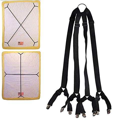 BuffyIn 1 Set Entrecruzado Ajustable Sábanas Correas