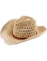 Autek cap Corée paille chapeaux de cowboy pour les hommes et les femmes ainsi que quelques grand chapeau de paille dans le chapeau du soleil de plage d'été GM (559)