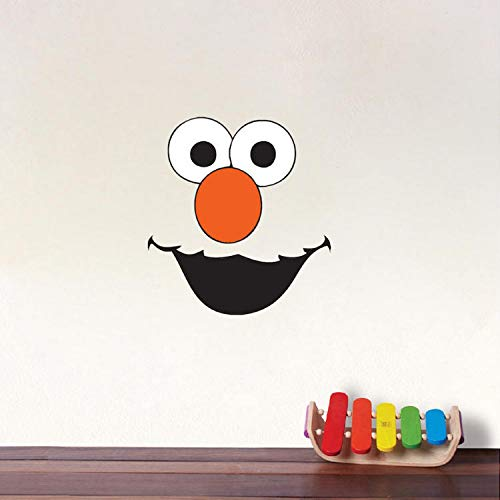 xmydeshoop Funny Elmo Color Face Wall Sticker for Kids Rooms Decoration Removable Waterproof Wall Art Decals Poster Wallpaper Home Decor