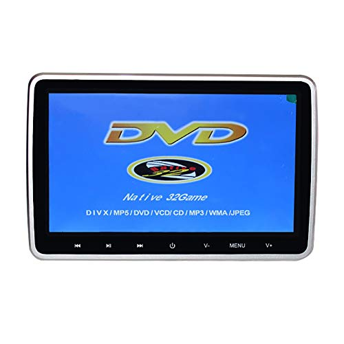 HANG 10,1-Zoll-Kopfstützen-DVD-Player für Kinder, Unterstützt AUX Region Free Sync Screen HD-LCD-Player, Unterstützt USB/SD AV IN/Out-Direktwiedergabe in Mehreren Formaten (Alle Dvd Player Ray Region Blu)