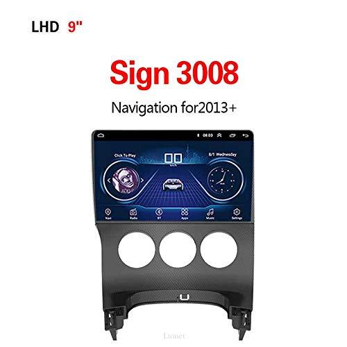 Lionet Navigation GPS pour voitureSign 3008,2013+ 9Pouces Android 8.1 WiFi 1G / 16G dans Dash Navigation GPS, Radio, Hi-FI, Bluetooth, GPS Navigator