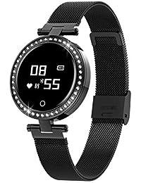 Smartwatch, goodjinHH Smart Watch Sport Uhr Smart Uhr Schrittzähler,herzfrequenz,Schlaf-Monitor,Blutdrucküberwachung Android Handy für Damen mit iOS Android (Black)