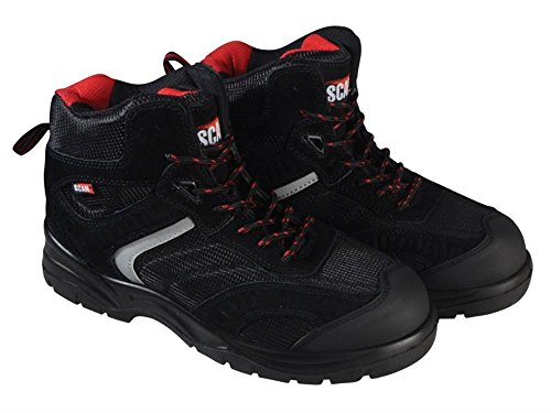 Scan fwbob12UK 12/Euro 46Bobcat Low Ankle Hiker Boot–Schwarz