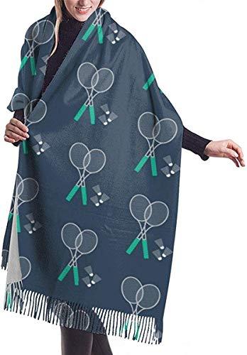 Python Mix Der weiche Kaschmir-Schal der Badminton- und Schläger-Frauen wickelt Winter-großen Schal ein
