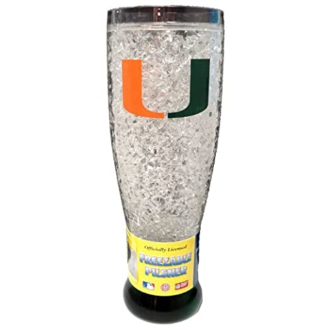Miami Hurricanes cristal Pilsner Glass