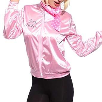 HCFKJ Sweatshirt Damen, S-XL, Frauen-Rosa-Dame Sweetie Jacket Hen Party-Halloween-Tanz-Kostüm-Abendkleid (S, PK)