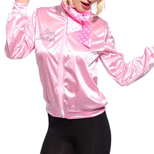 (HCFKJ Sweatshirt Damen, S-XL, Frauen-Rosa-Dame Sweetie Jacket Hen Party-Halloween-Tanz-Kostüm-Abendkleid (M, PK))