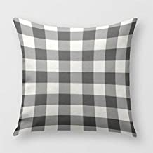 Blanco y Negro Cuadros Manta funda de almohada para sofá o dormitorio