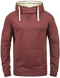 Blend Sales Herren Kapuzenpullover Hoodie Pullover Mit Kapuze  Cross-Over-Kragen Und Fleece- f563403f4e