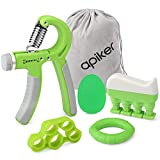 apiker Handtrainer Fingertrainer Set, Hand Fingertrainer, Hand Grip Trainer...