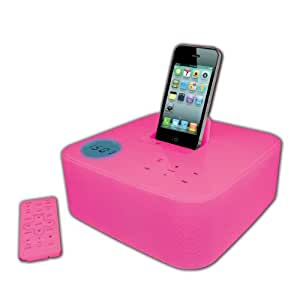 dock radio reveil et station pour ipod rose compatible i. Black Bedroom Furniture Sets. Home Design Ideas