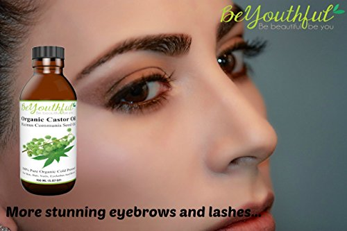 BeYouthful-100-Pure-Organic-Castor-Oil-For-Hair-Skin-And-Nails-Aids-Hair-Growth-In-Eyelashes-Brows-Beard-Scalp-Treatment-For-Acne-Stretch-Marks-Scars-Moisturiser-For-Fine-Lines-And-Wrinkles-Includes-G