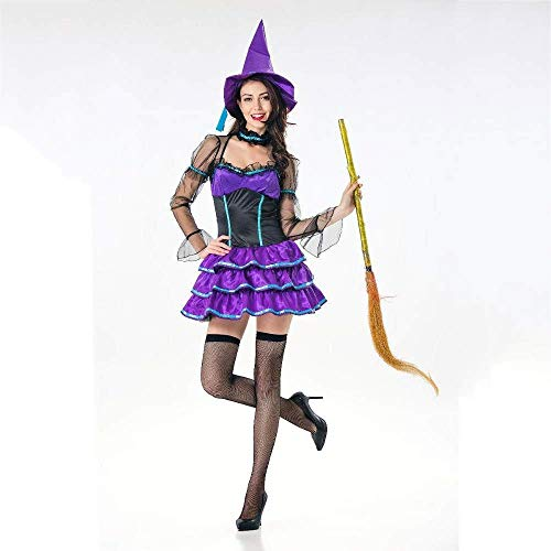 Fashion-Cos1 Mode Frau Halloween Kostüm böse Hexe Cosplay Kostüme mit Hut Happy Holiday Rollenspiel