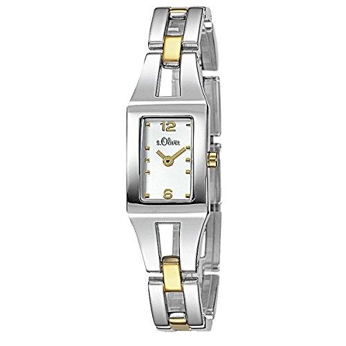 s.Oliver Damen-Armbanduhr Analog Quarz bicolor SO-15040-MQR