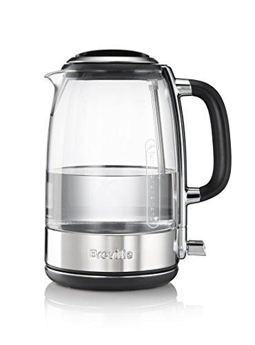 Breville VKT074X - Hervidor de agua con jarra de cristal de vidrio tra